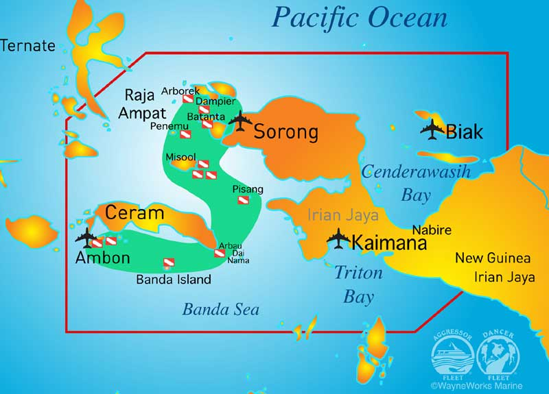 Raja e Banda Map