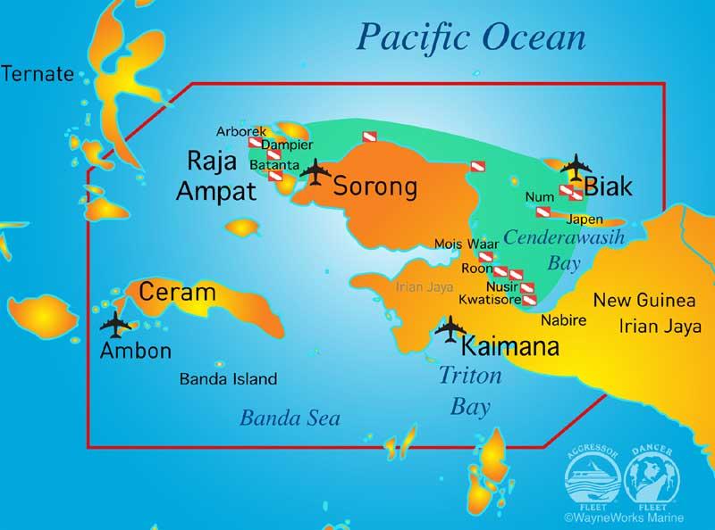 Raja e Cenderwasih Map