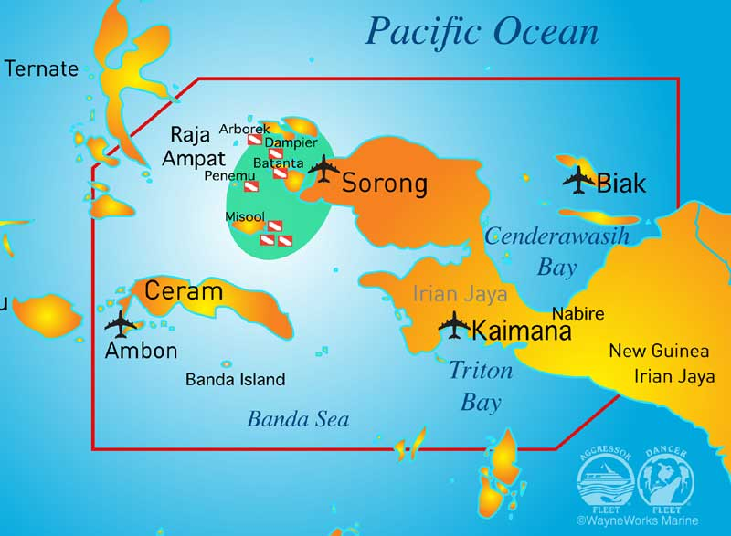 RajaAmpat Map
