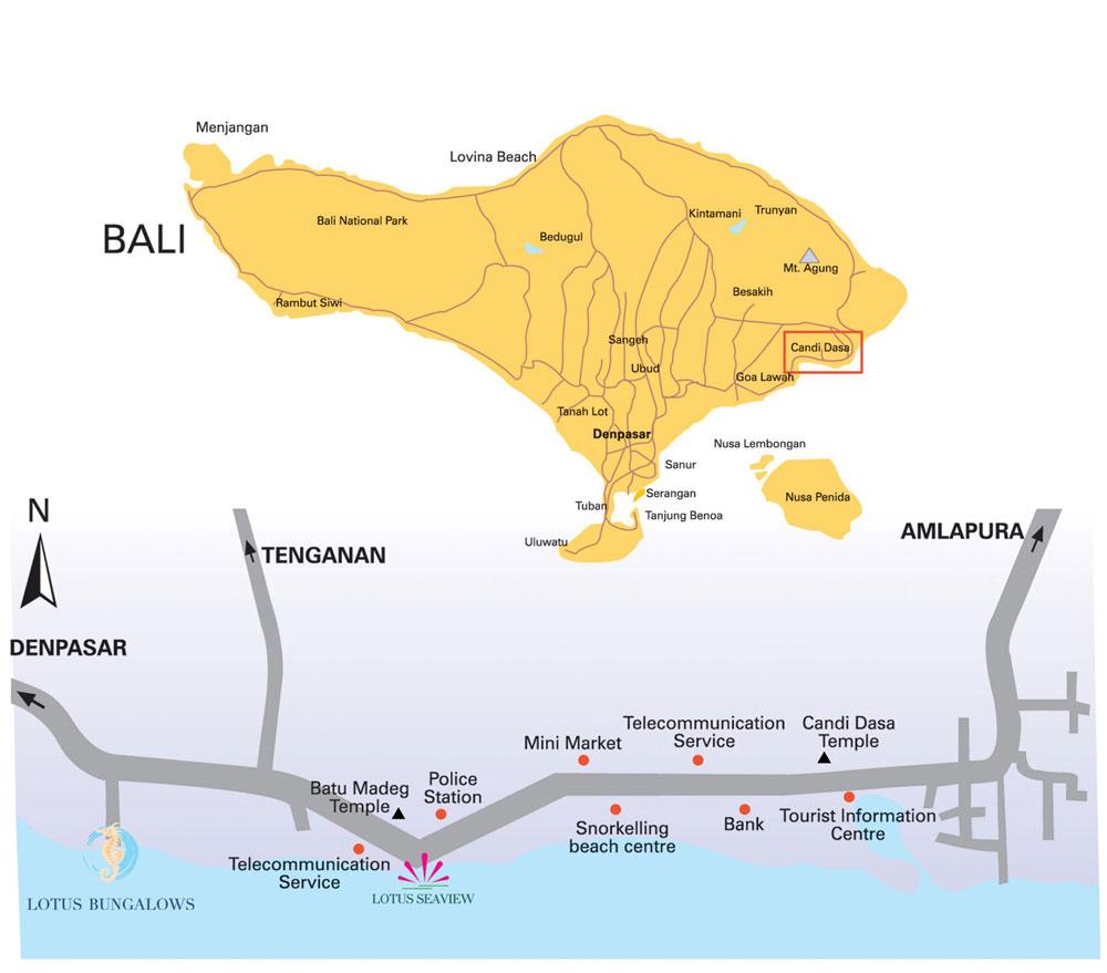 Mappa Bali