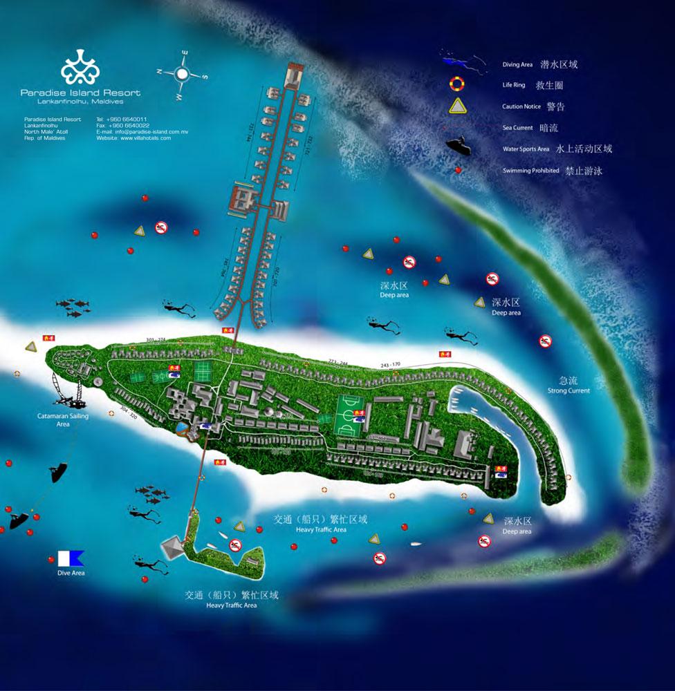 Paradise Island Ocean Suite Mappa Resort